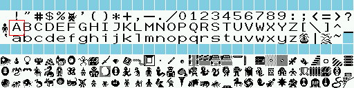 Nethack 12x12 and 16x16 Tile Font